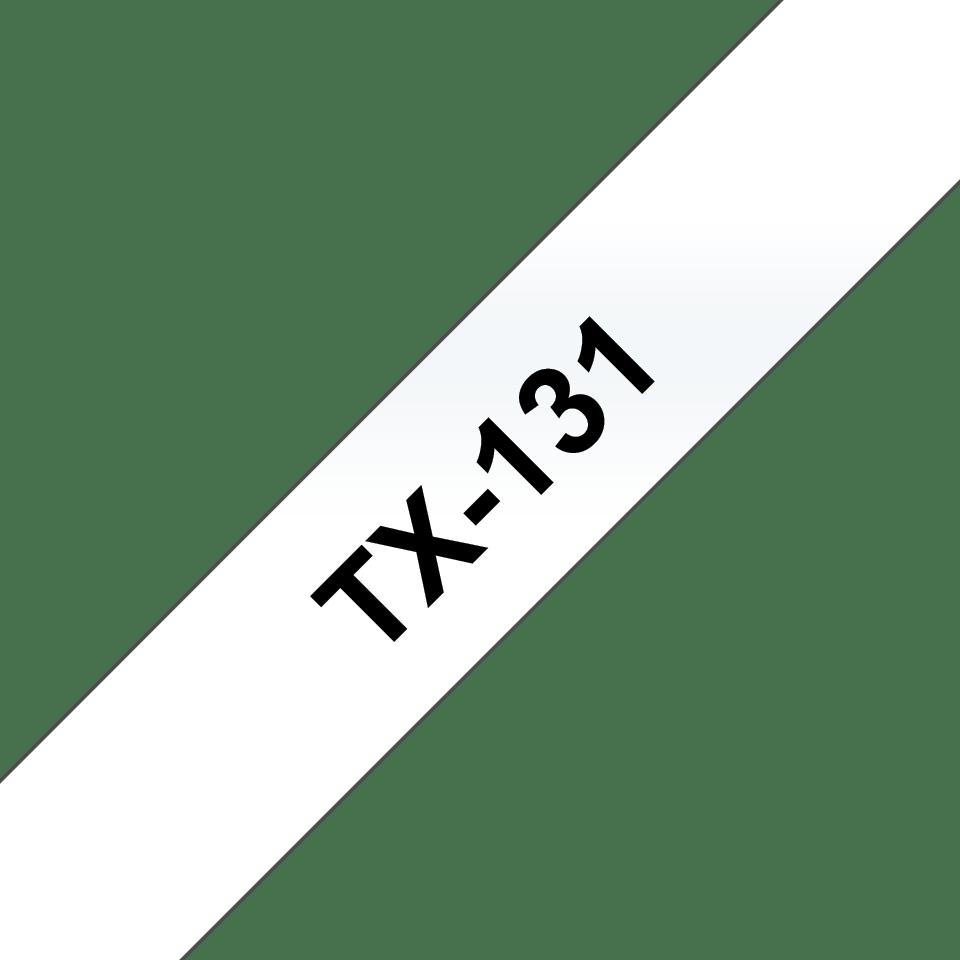 Cassetta nastro per etichettatura originale Brother TX-131 – Nero su trasparente, 12 mm di larghezza