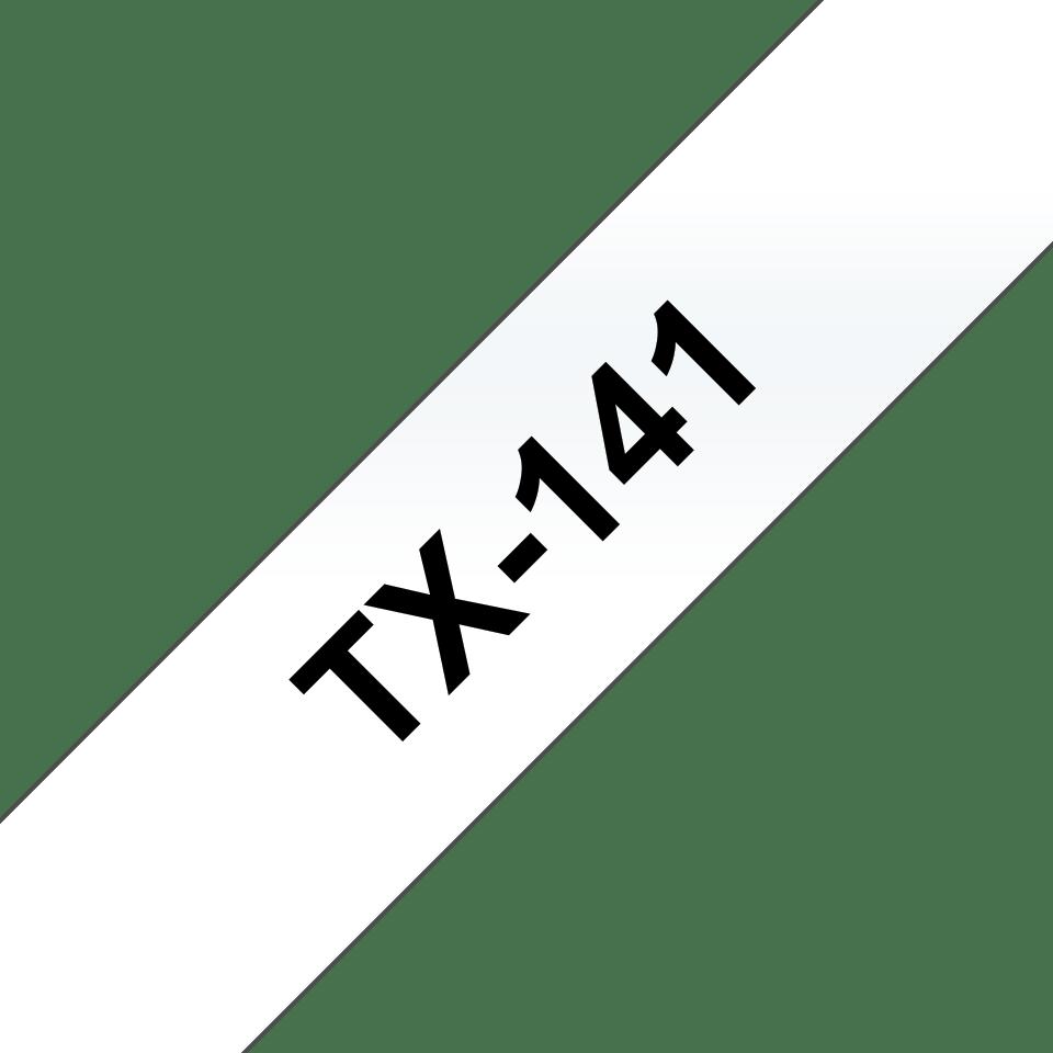 Cassetta nastro per etichettatura originale Brother TX-141 – Nero su trasparente, 18 mm di larghezza