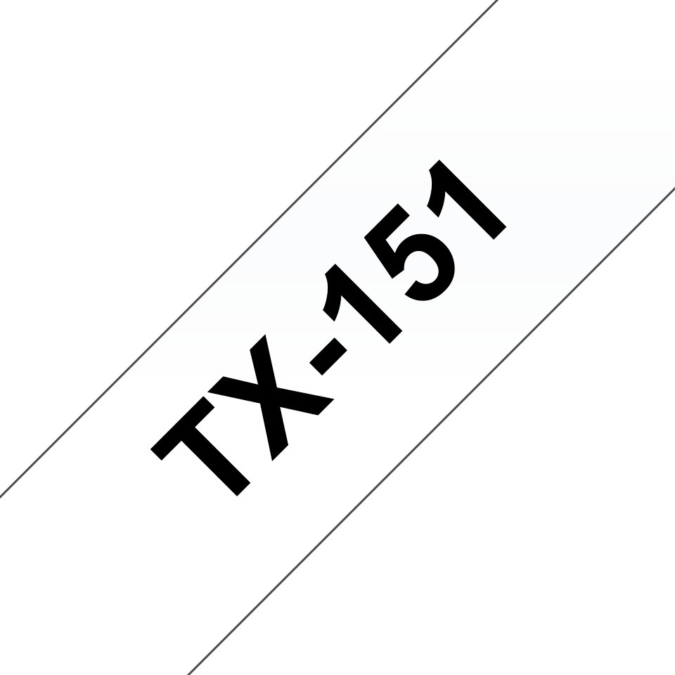 Cassetta nastro per etichettatura originale Brother TX-151 – Nero su trasparente, 24 mm di larghezza