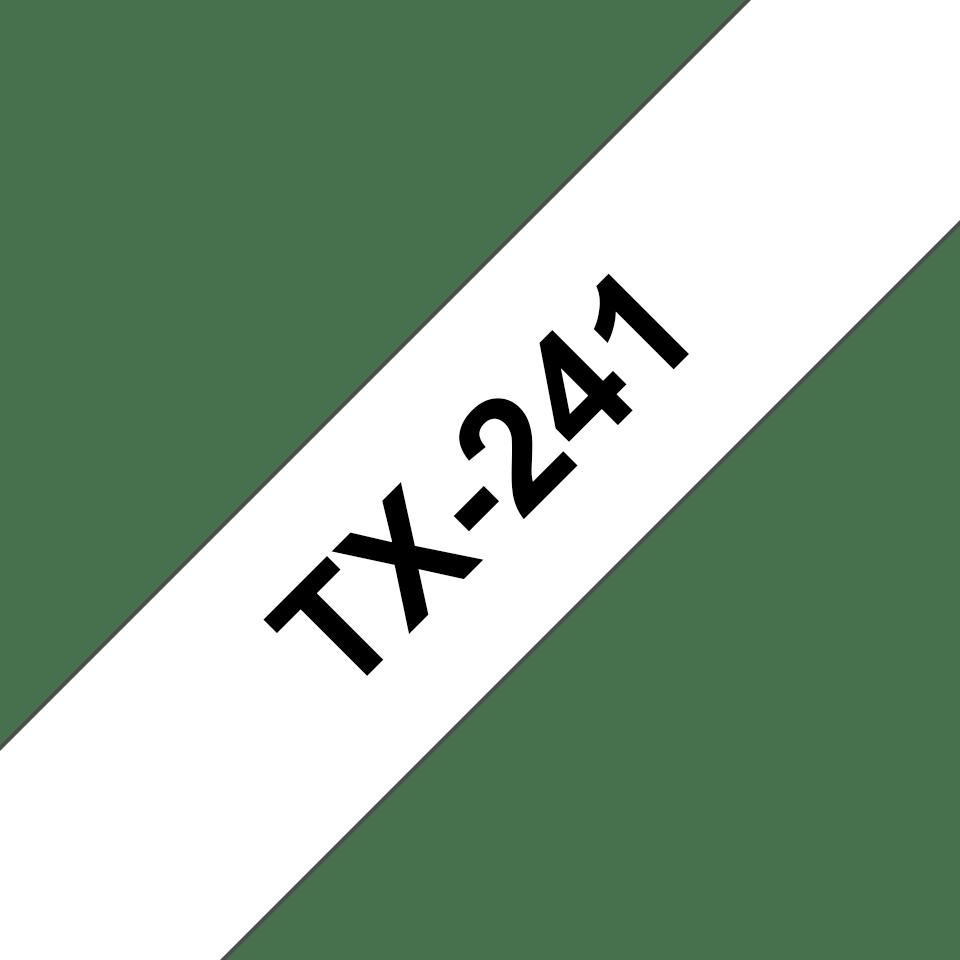 Cassetta nastro per etichettatura originale Brother TX-241 – Nero su bianco, 18 mm di larghezza