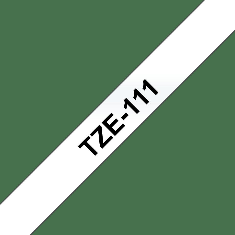 Cassetta nastro per etichettatura originale Brother TZe-111 – Nero su trasparente, 6 mm di larghezza 3