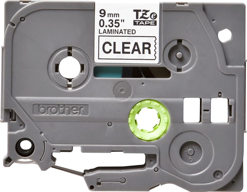 Cassetta nastro per etichettatura originale Brother TZe-121 – Nero su trasparente, 9 mm di larghezza 0