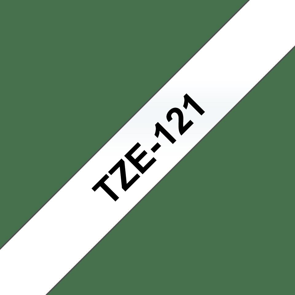 Cassetta nastro per etichettatura originale Brother TZe-121 – Nero su trasparente, 9 mm di larghezza 2