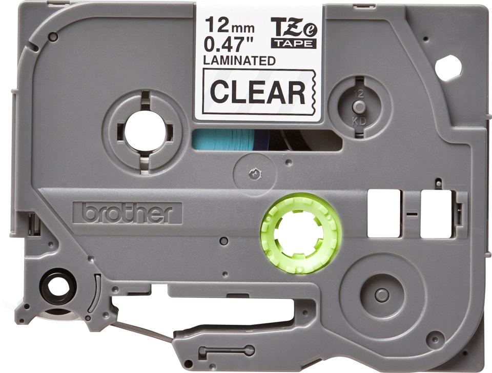 Brother TZe-131 Nastro originale per etichettatrici, 12 mm - nero su trasparente