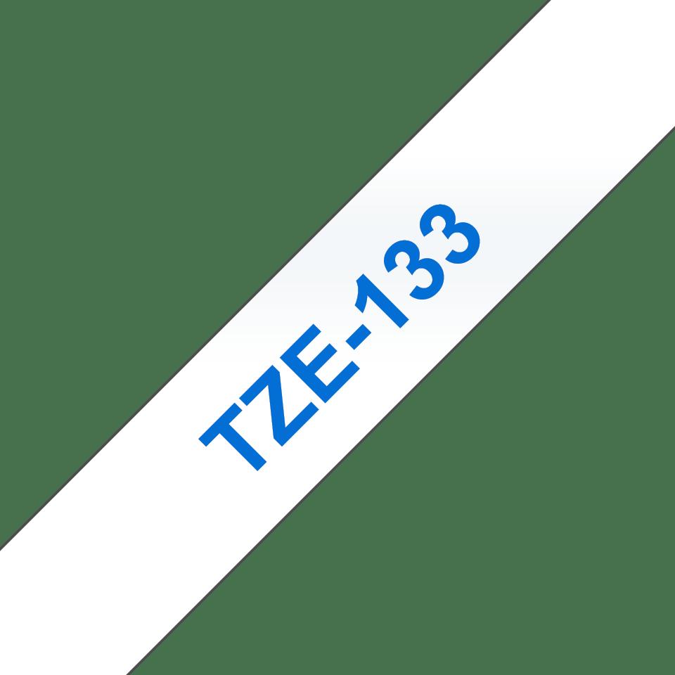 Cassetta nastro per etichettatura originale Brother TZe-133 – Blu su trasparente, 12 mm di larghezza 3