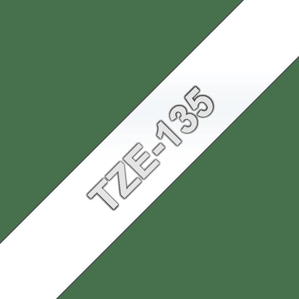Cassetta nastro per etichettatura originale Brother TZe-135 – Bianco su trasparente, 12 mm di larghezza 3