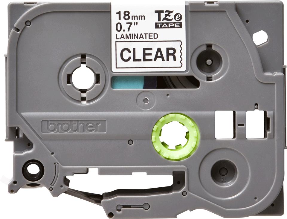 Cassetta nastro per etichettatura originale Brother TZe-141 – Nero su trasparente, 18 mm di larghezza 0