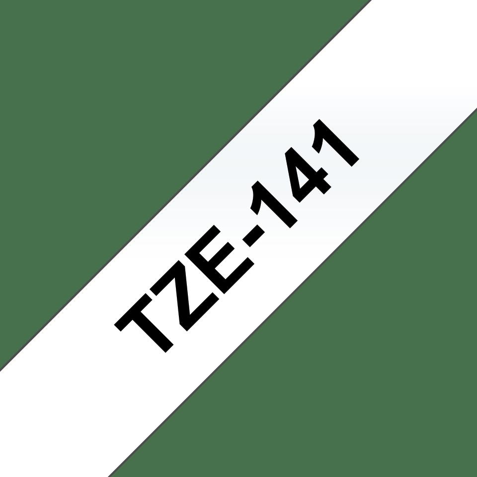 Cassetta nastro per etichettatura originale Brother TZe-141 – Nero su trasparente, 18 mm di larghezza 2