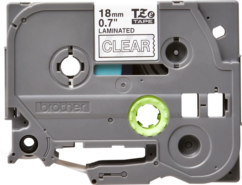 Cassetta nastro per etichettatura originale Brother TZe-145 – Bianco su trasparente, 18 mm di larghezza