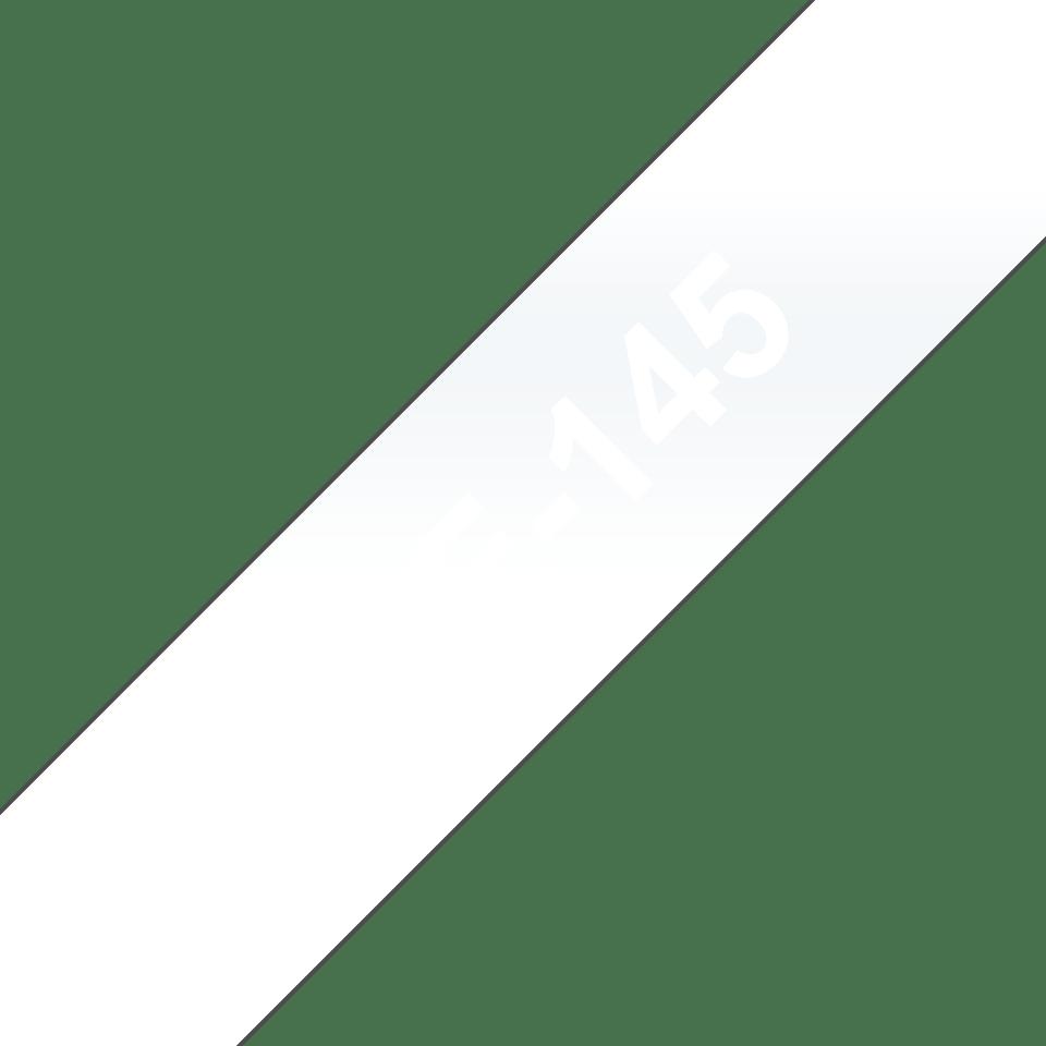 Cassetta nastro per etichettatura originale Brother TZe-145 – Bianco su trasparente, 18 mm di larghezza 3