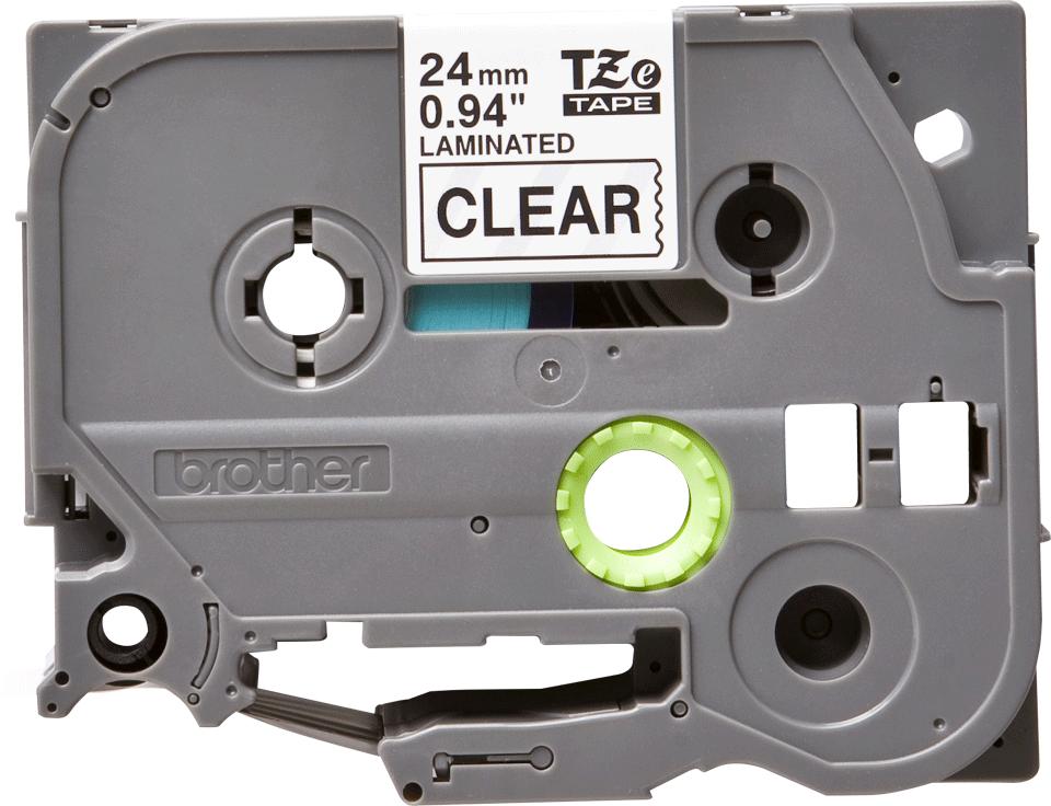 Cassetta nastro per etichettatura originale Brother TZe-151 – Nero su trasparente, 24 mm di larghezza 0