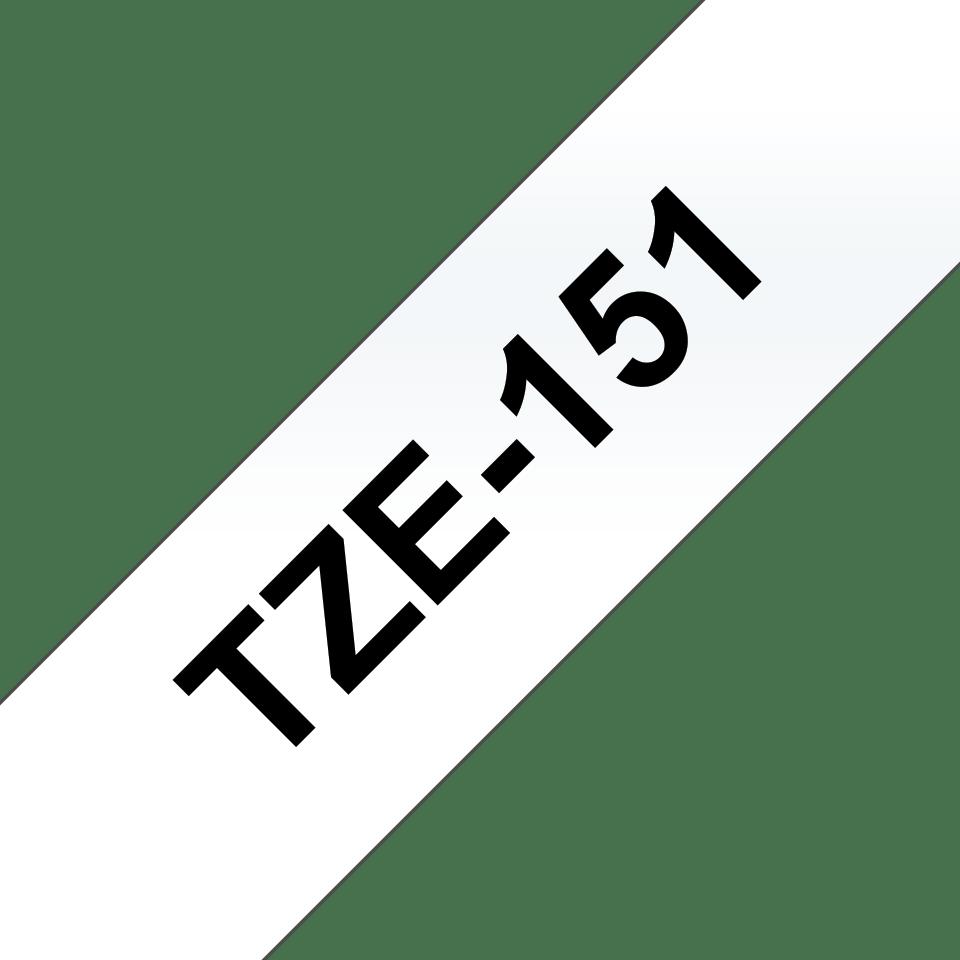 Cassetta nastro per etichettatura originale Brother TZe-151 – Nero su trasparente, 24 mm di larghezza 3
