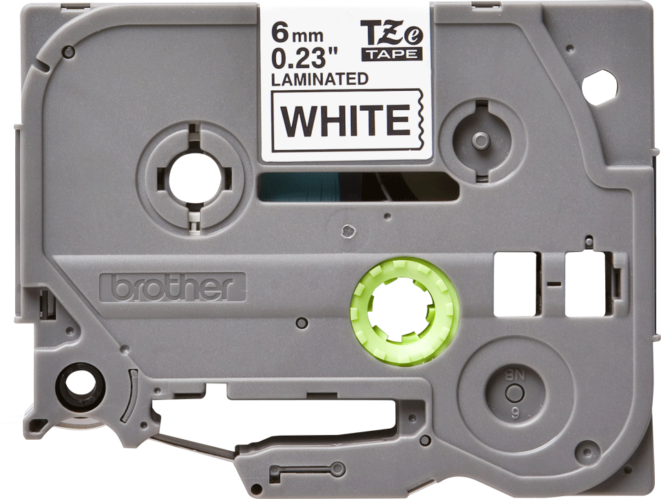 Cassetta nastro per etichettatura originale Brother TZe-211 – Nero su bianco, 6 mm di larghezza