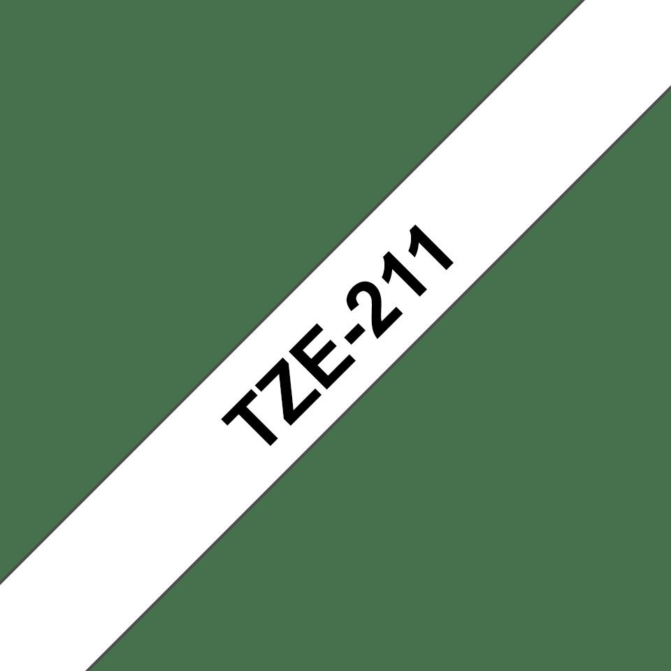 Cassetta nastro per etichettatura originale Brother TZe-211 – Nero su bianco, 6 mm di larghezza 3