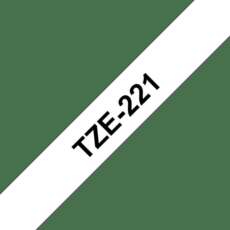 Nastro per etichettatura originale Brother TZe-221 – Nero su bianco, 9 mm di larghezza 2