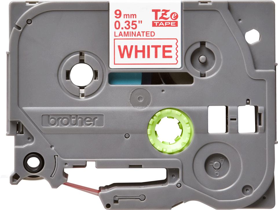 Cassetta nastro per etichettatura originale Brother TZe-222 – Rosso su bianco, 9 mm di larghezza