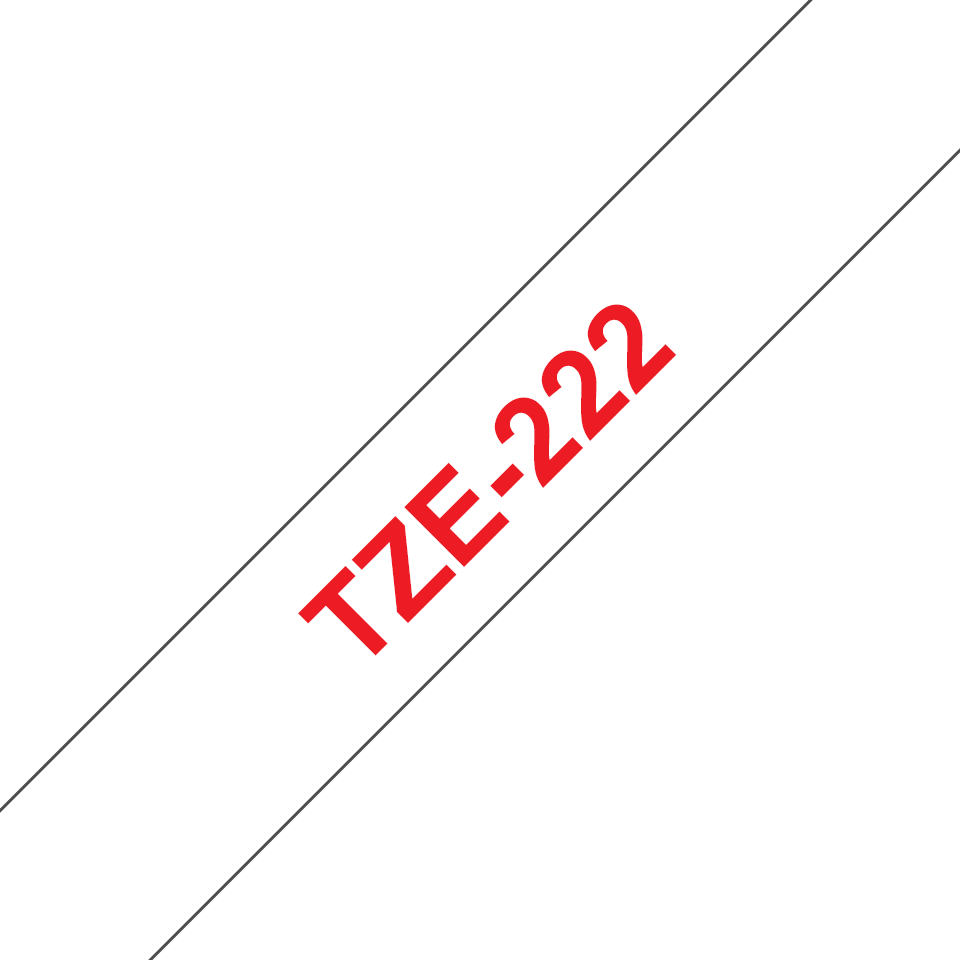 Cassetta nastro per etichettatura originale Brother TZe-222 – Rosso su bianco, 9 mm di larghezza 3