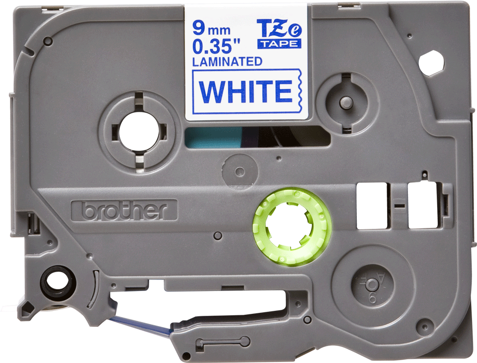 Cassetta nastro per etichettatura originale Brother TZe-223 – Blu su bianco, 9 mm di larghezza