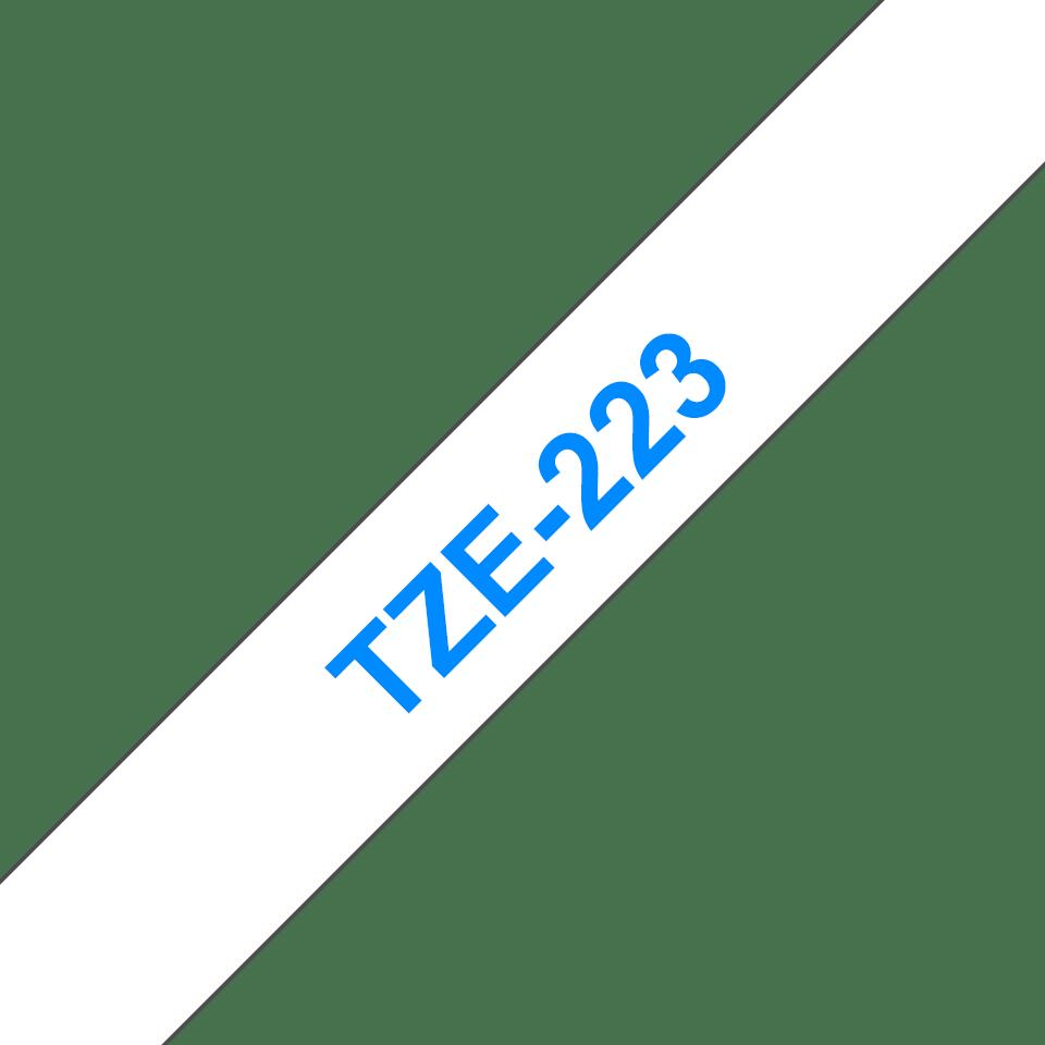 Cassetta nastro per etichettatura originale Brother TZe-223 – Blu su bianco, 9 mm di larghezza 3