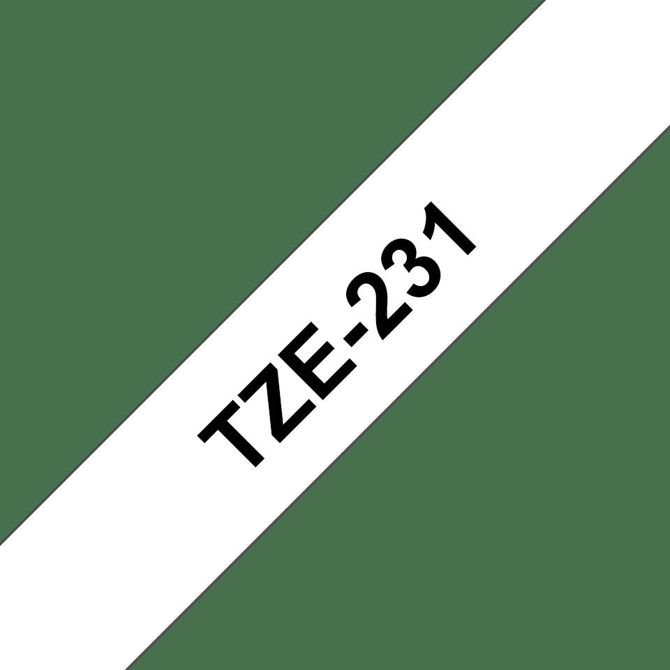 Brother TZe-231 Nastro originale per etichettatrici, 12 mm - nero su bianco 3
