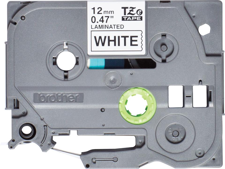 Cassetta nastro per etichettatura originale Brother TZe-231S – Nero su bianco, 12 mm di larghezza 2