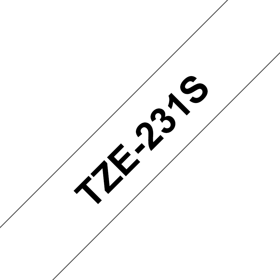 Cassetta nastro per etichettatura originale Brother TZe-231S – Nero su bianco, 12 mm di larghezza 3