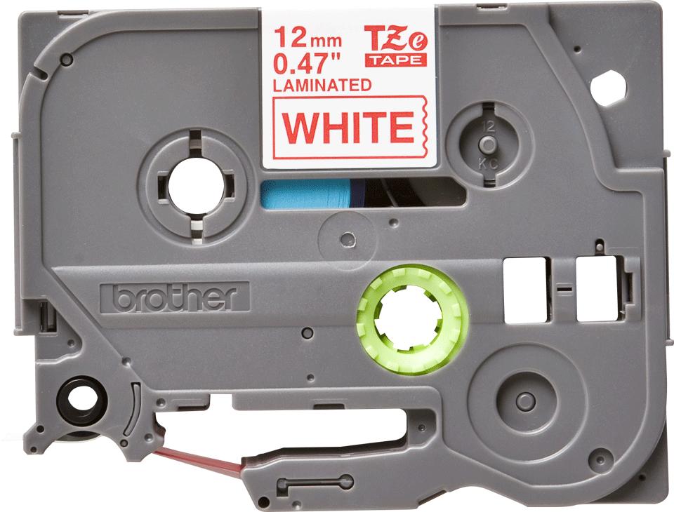 Cassetta nastro per etichettatura originale Brother TZe-232 – Rosso su bianco, 12 mm di larghezza