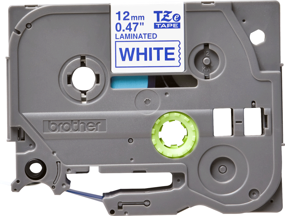 Cassetta nastro per etichettatura originale Brother TZe-233 – Blu su bianco, 12 mm di larghezza