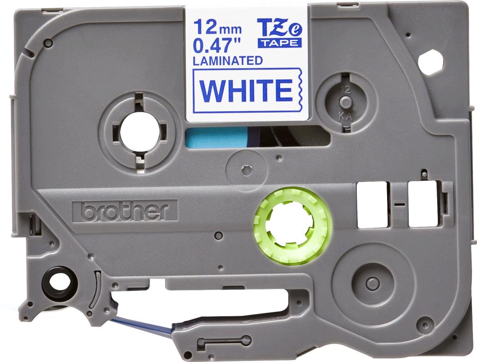 Cassetta nastro per etichettatura originale Brother TZe-233 – Blu su bianco, 12 mm di larghezza 0