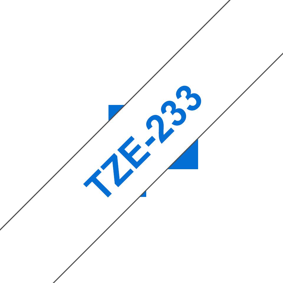 Cassetta nastro per etichettatura originale Brother TZe-233 – Blu su bianco, 12 mm di larghezza 3
