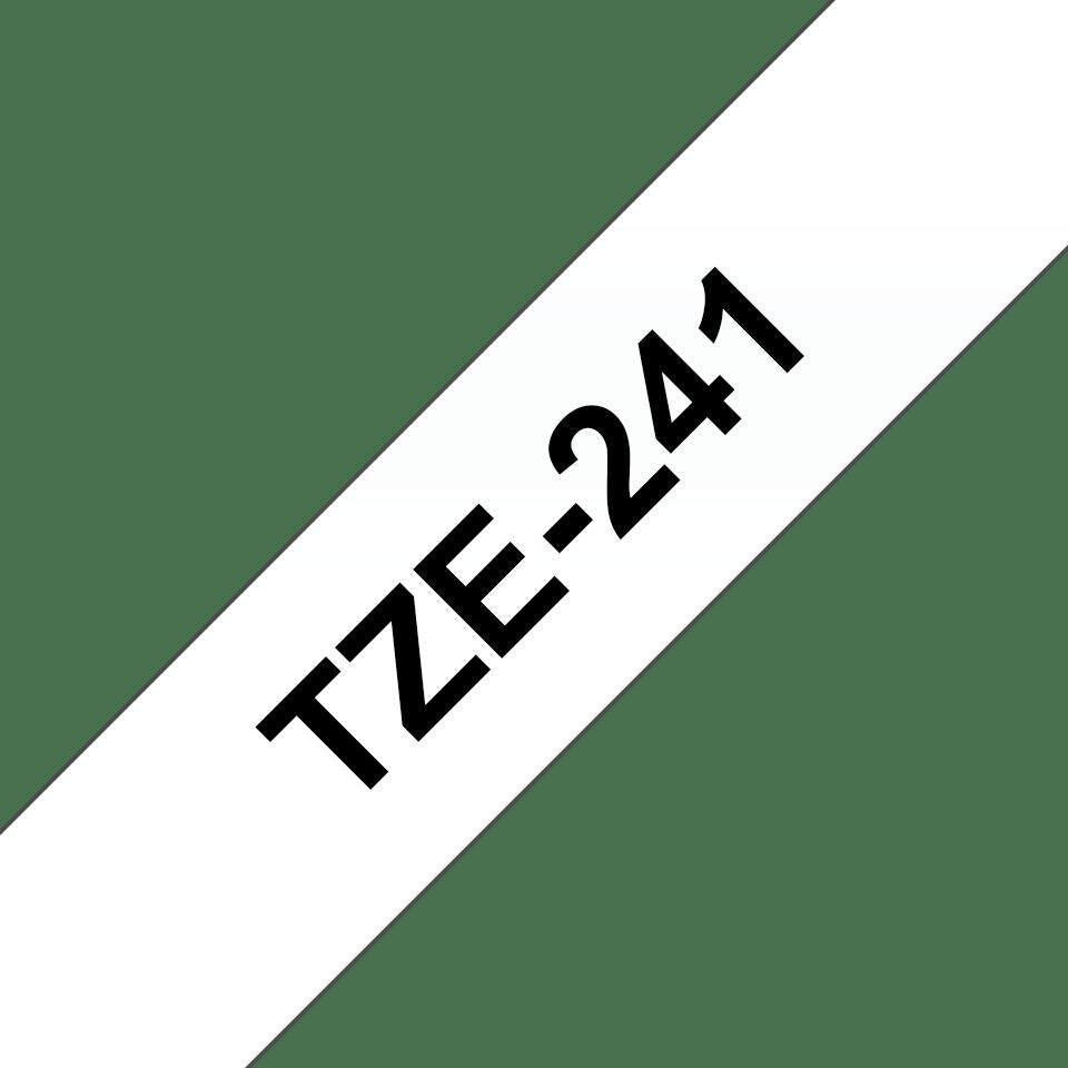 Cassetta nastro per etichettatura originale Brother TZe-241 – Nero su bianco, 18 mm di larghezza 3
