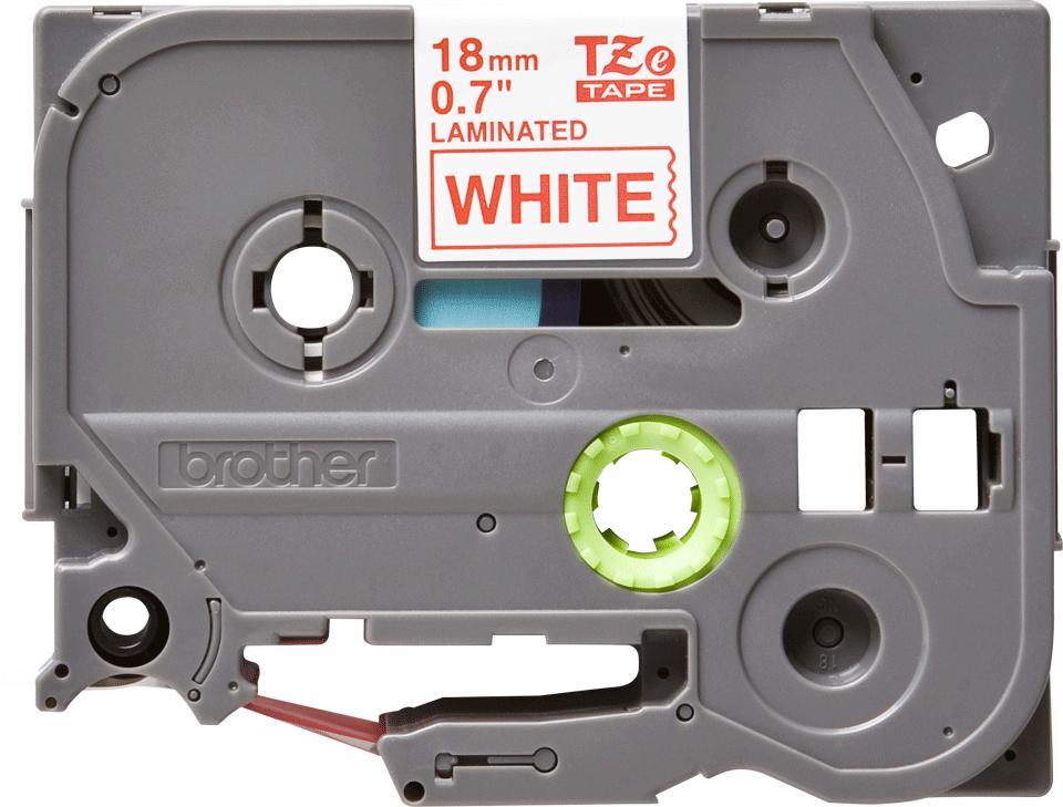 Cassetta nastro per etichettatura originale Brother TZe-242 – Rosso su bianco, 18 mm di larghezza
