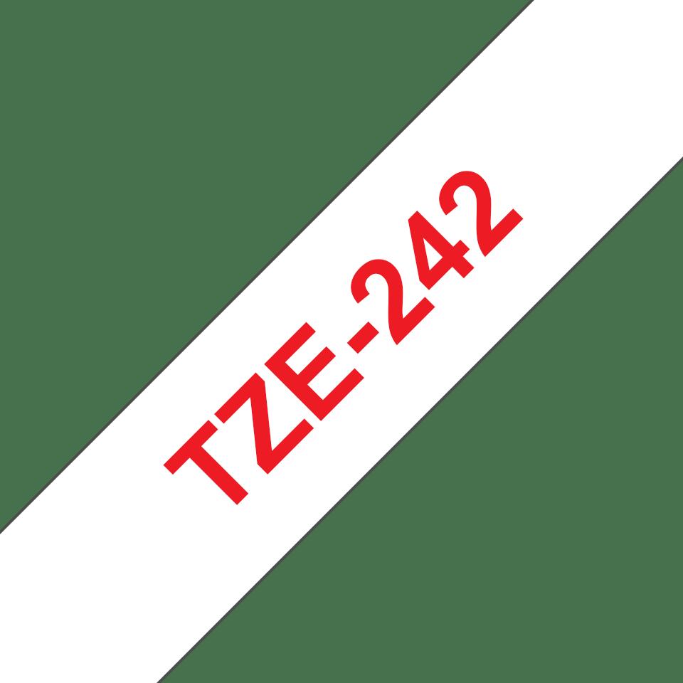 Cassetta nastro per etichettatura originale Brother TZe-242 – Rosso su bianco, 18 mm di larghezza 3