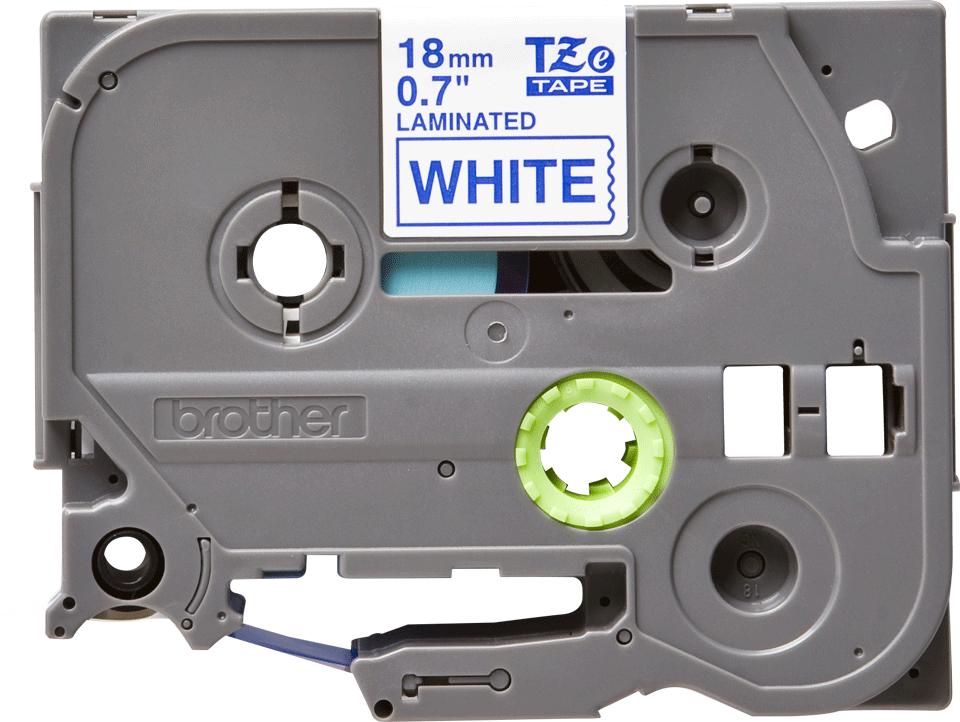 Cassetta nastro per etichettatura originale Brother TZe-243 – Blu su bianco, 18 mm di larghezza