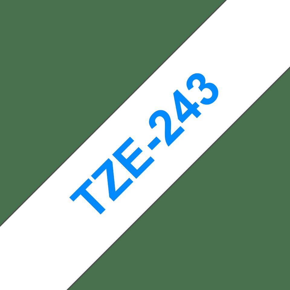 Cassetta nastro per etichettatura originale Brother TZe-243 – Blu su bianco, 18 mm di larghezza 3
