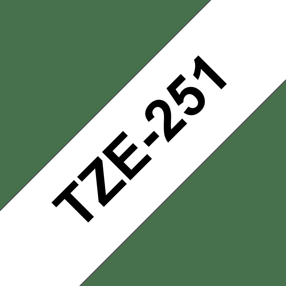 Brother TZe-251 Nastro originale per etichettatrici, 24 mm - nero su bianco 3