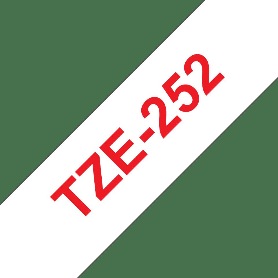 Cassetta nastro per etichettatura originale Brother TZe-252 – Rosso su bianco, 24 mm di larghezza 3