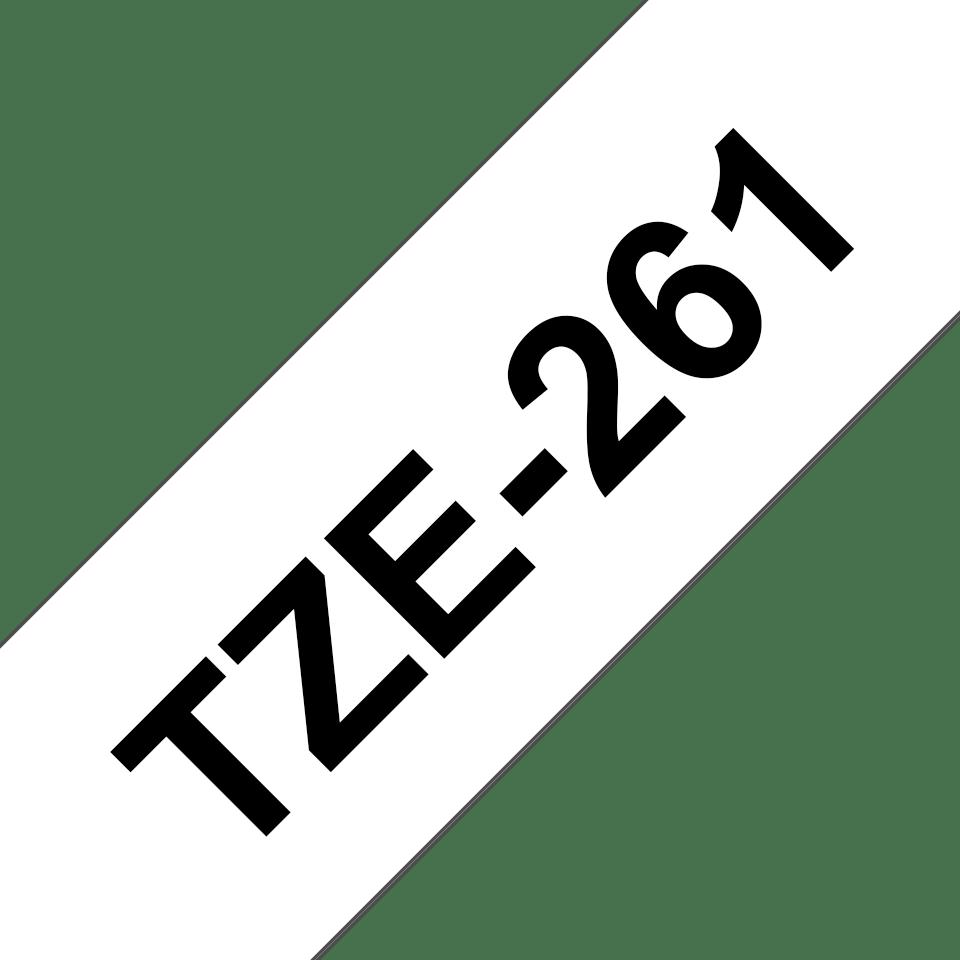 Cassetta nastro per etichettatura originale Brother TZe-261 – Nero su bianco, 36 mm di larghezza 3