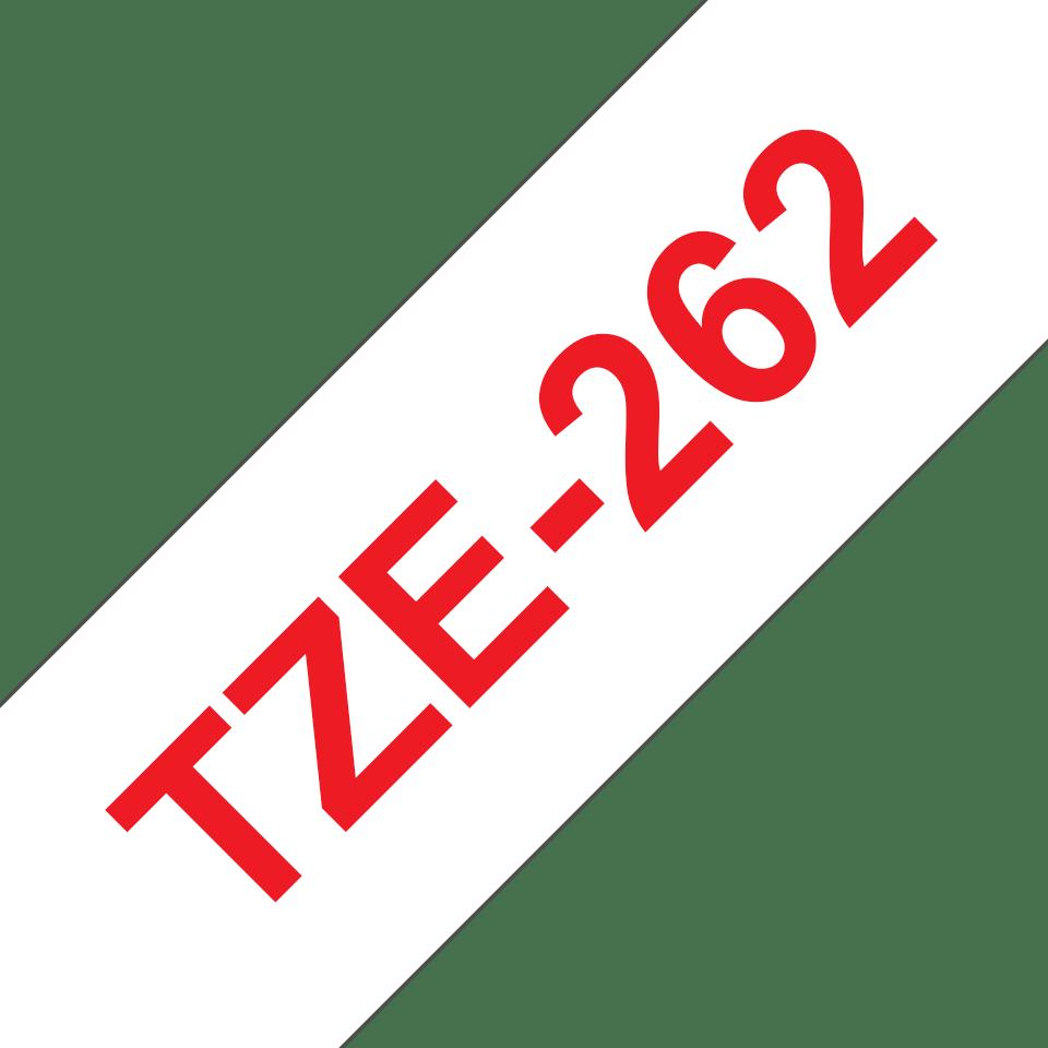 Cassetta nastro per etichettatura originale Brother TZe-262 – Rosso su bianco, 36 mm di larghezza 3