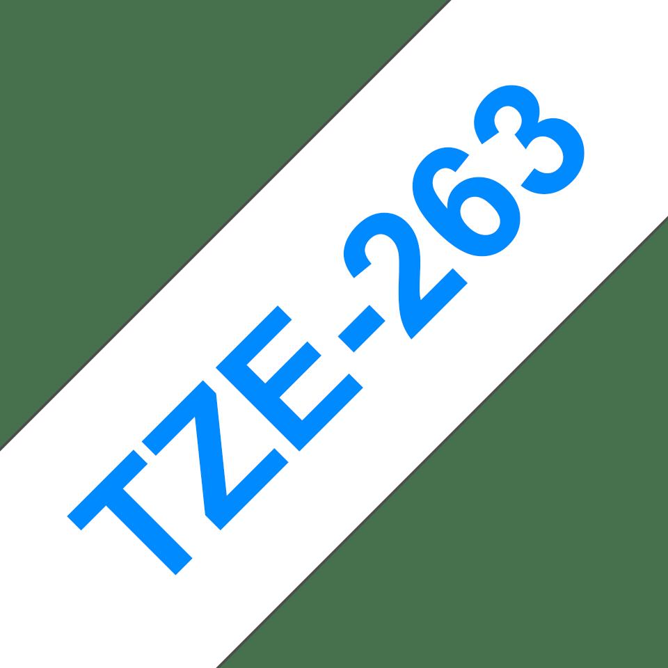 Cassetta nastro per etichettatura originale Brother TZe-263 – Blu su bianco, 36 mm di larghezza 3