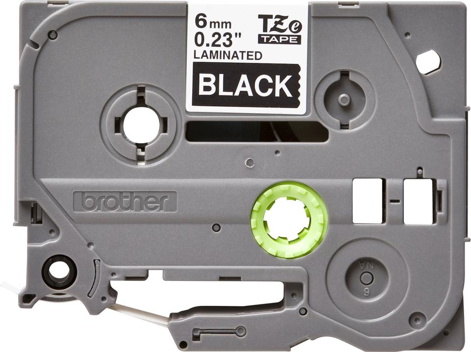 Cassetta nastro per etichettatura originale Brother TZe-315 – Bianco su nero, 6 mm di larghezza