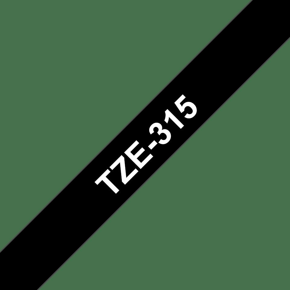 Cassetta nastro per etichettatura originale Brother TZe-315 – Bianco su nero, 6 mm di larghezza 3