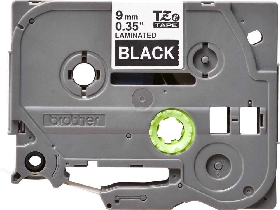 Cassetta nastro per etichettatura originale Brother TZe-325 – Bianco su nero, 9 mm di larghezza 0