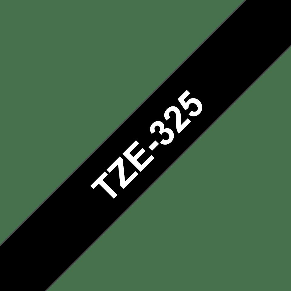 Cassetta nastro per etichettatura originale Brother TZe-325 – Bianco su nero, 9 mm di larghezza 2