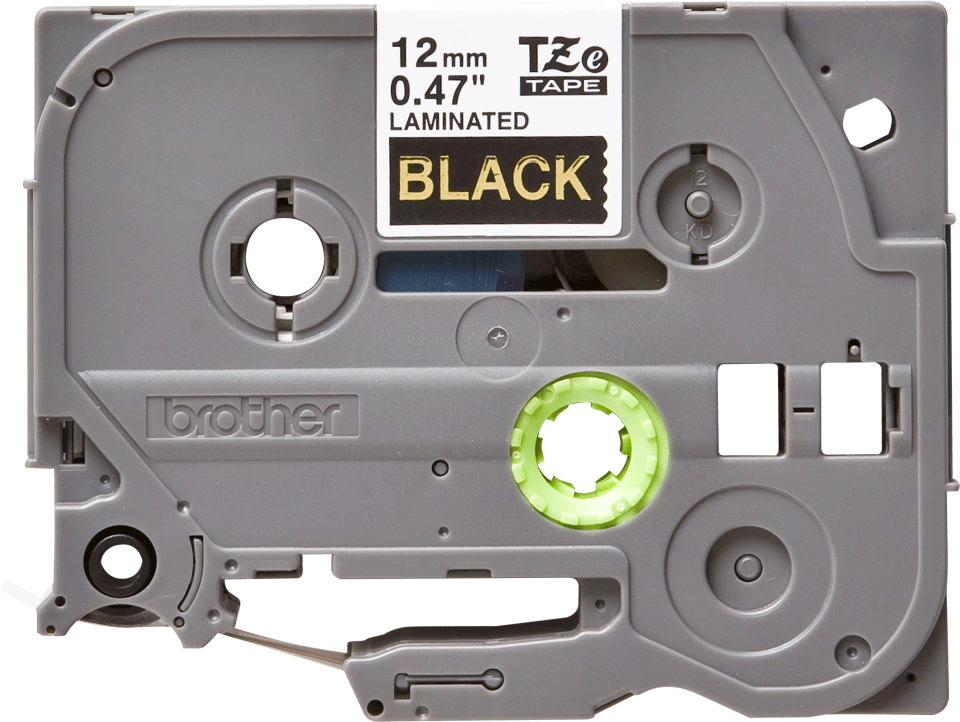 Cassetta nastro per etichettatura originale Brother TZe-334 – Oro su nero, 12 mm di larghezza 0