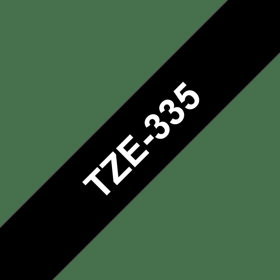 Nastro per etichettatura originale Brother TZe-335 – Bianco su nero, 12 mm di larghezza 3