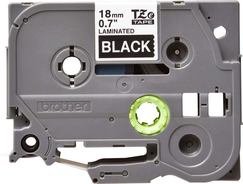 Cassetta nastro per etichettatura originale Brother TZe-345 – Bianco su nero, 18 mm di larghezza