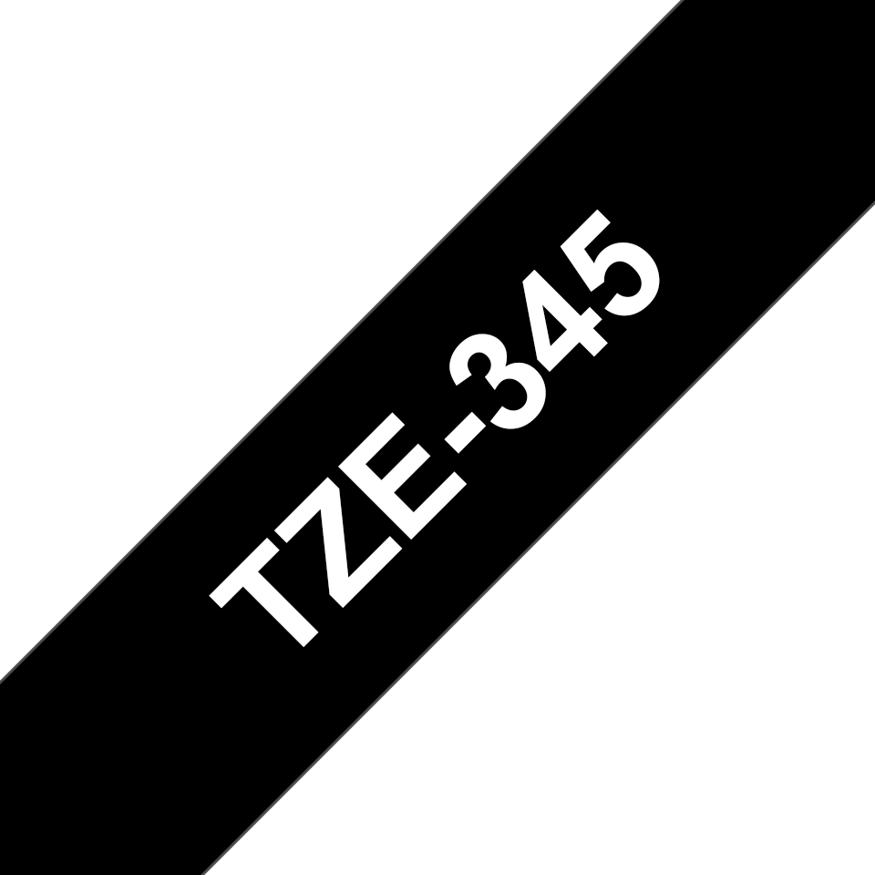 Cassetta nastro per etichettatura originale Brother TZe-345 – Bianco su nero, 18 mm di larghezza 3