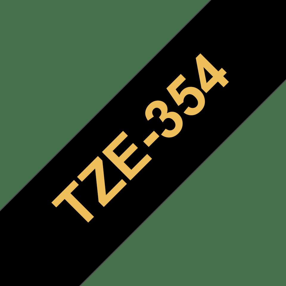 Cassetta nastro per etichettatura originale Brother TZe-354 – Oro su nero, 24 mm di larghezza 3