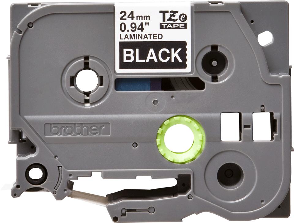 Cassetta nastro per etichettatura originale Brother TZe-355 – Bianco su nero, 24 mm di larghezza